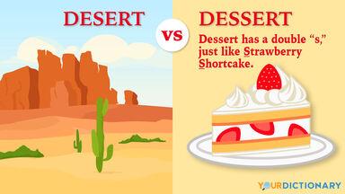 desert vs dessert example with spelling tip
