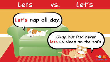 lets versus let's example cat dog