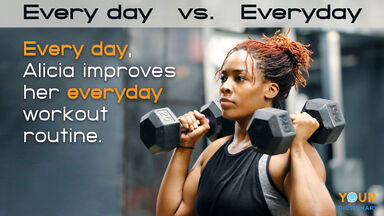 every day vs everyday sentence example