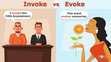 invoke vs evoke sentence examples