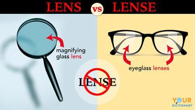 lense vs lens examples