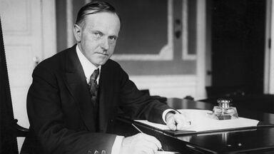 President Calvin Coolidge at desk 1930
