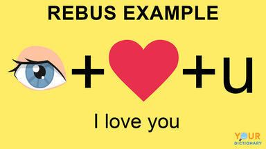 rebus puzzle example i love you
