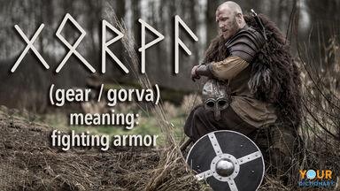 norse word gear gorva fighting armor