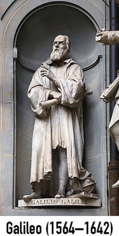 Galileo statue as examples of Renaissance men