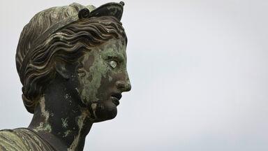 Roman statue of Artemis Temple of Apollo Pompeii Italy