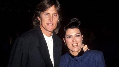 Bruce Jenner and Kris Kardashian 1990