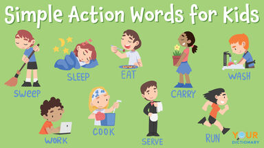 simple action words for kids