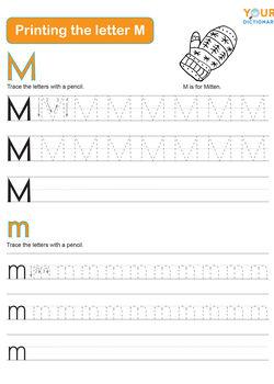 tracing the letter m