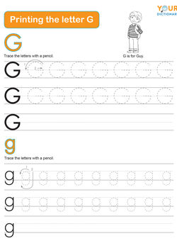 tracing the letter g