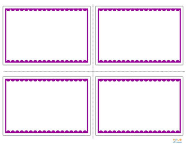 vocabulary flashcards template printable
