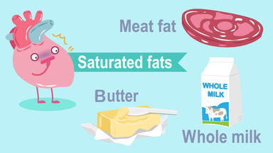 example of saturated fat
