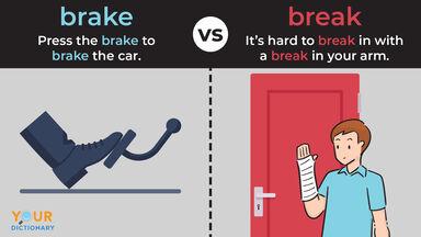 brake car pedal versus break broken arm