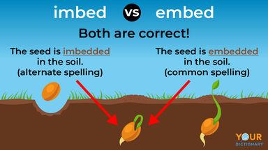imbed versus embed