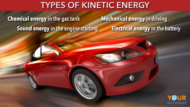 types of kinetic energy with car example