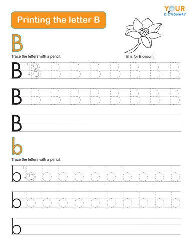 printing the letter b worksheet
