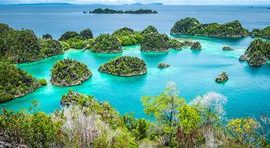 Pienemo islands in Indonesia