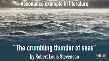 assonance example poem robert louis stevenson