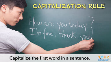 capitalization rule of capitalizing first word in sentence