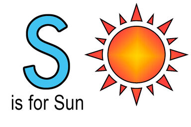 s words for kids example of sun
