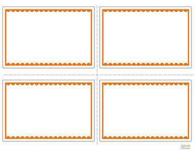 orange and white flash cards
