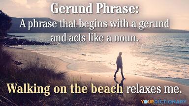 gerund phrase begins with gerund acts like noun