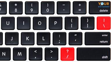 slash symbol on a computer keyboard