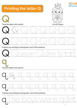 tracing the letter q