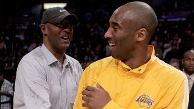 Kobe Bryant with father Joe Jelly Bean Bryant 2010