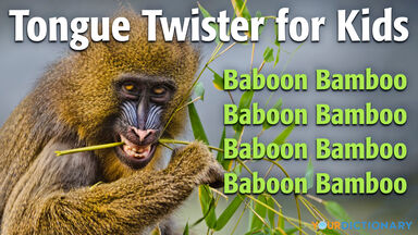 tongue twister for kids baboon bamboo