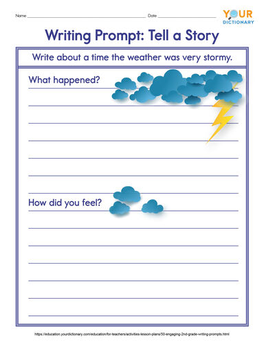 2nd Grade Writing Prompts with weather pictures