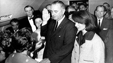 Lyndon B Johnson sworn in as President
