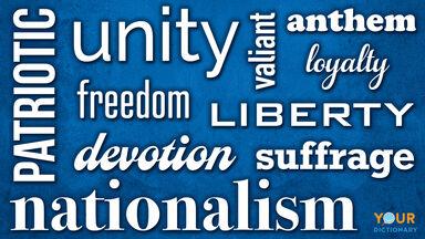 word wall patriotic words