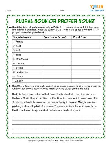 plural noun or proper noun