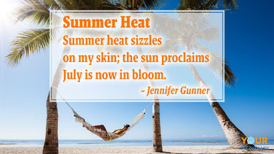 summer heat poem by jennifer gunner