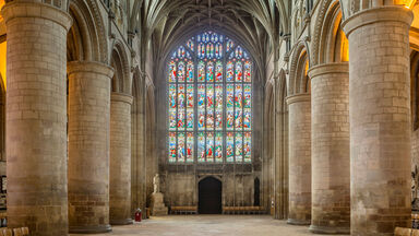 middle ages Gloucester cathedral interior