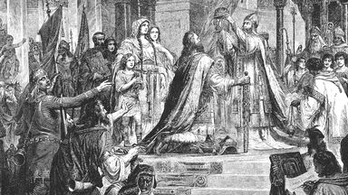 coronation of Charlemagne engraving