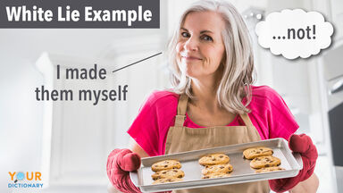 white lie example store bought cookies as homemade
