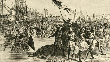 King Louis IX landing In Egypt 1249