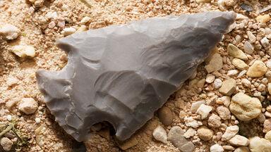 prehistoric times stone tool of arrowhead