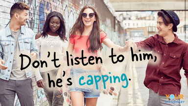 capping slang word friends joking
