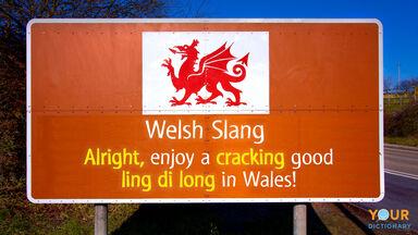 welsh slang example sentence on sign