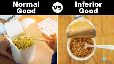 normal good versus inferior good ramen noodles
