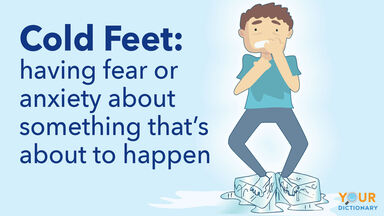 cold feet meaning with fearful man