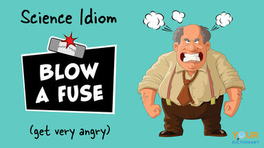 science idiom blow a fuse