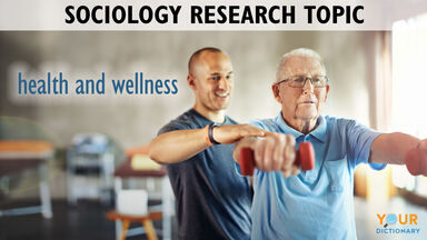 Sociology research topic health with men in gym