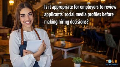 debate topic social media job applicant