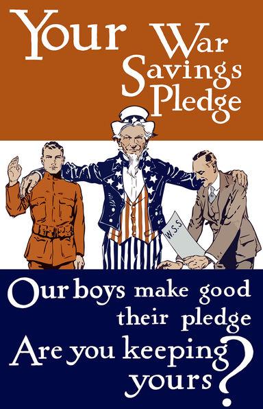 vintage World War I poster
