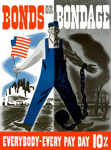 war propaganda poster false dilemma propaganda