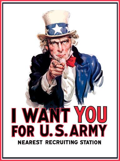 using slogans in propaganda Uncle Sam
